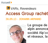 Access Group rachète le cableur savoyard Alpcom illustration