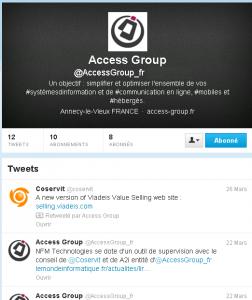 Access Group à suivre sur Twitter