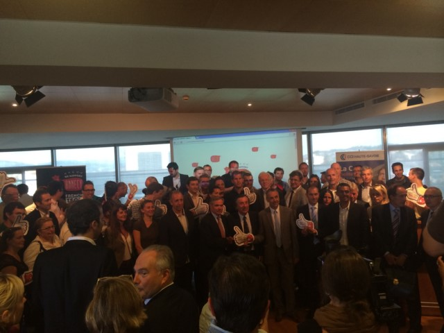 AccessGroup au lancement de Annecy French Tech avec le Big Like