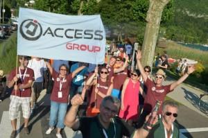 Les couleurs d'Access Group aux Corporate Games à Annecy-le-Vieux