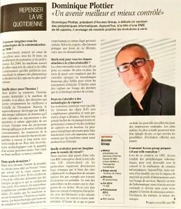 Interview Dominique Plottier - Dossier Pays de Savoie en 2040 dans les Eco des Pays de Savoie