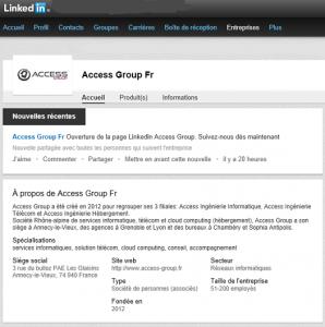 Access Group fait son entrée sur les réseaux sociaux