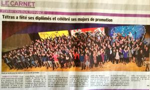Dauphiné Libéré - Access Group à l'honneur avec le centre de formation Tetras